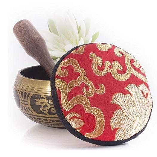 silent mind meditation cusion bowl set 9