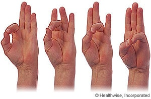 thumb-to-fingers grounding techniques