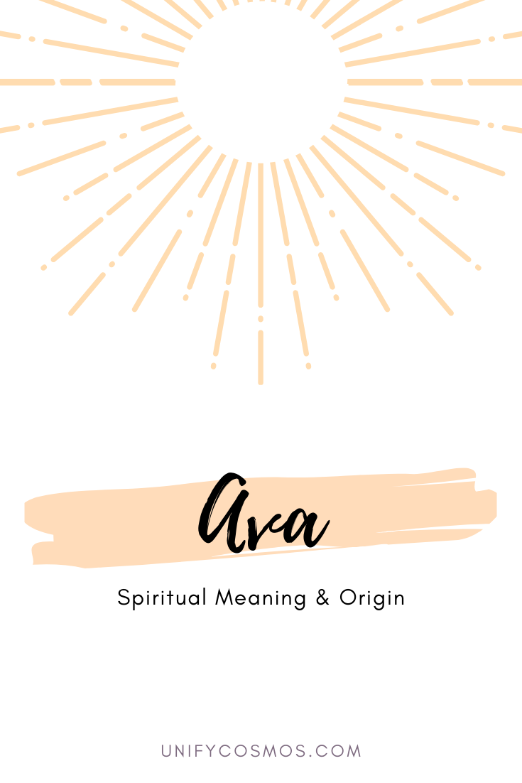Spiritual Meaning of the Name Ava by Unify Cosmos