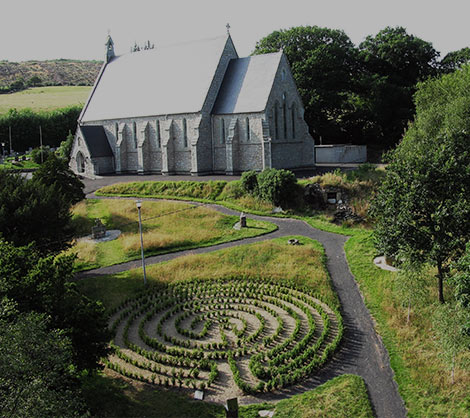 St-Kevins-church-labyrinth