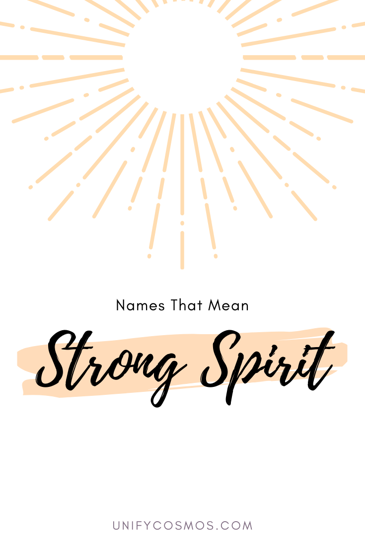 Names That Mean Strong Spirit by Unify Cosmos