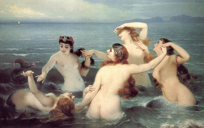 Charles_Edouard_Boutibonne_-_Mermaids_Frolicking_in_the_Sea,_1883