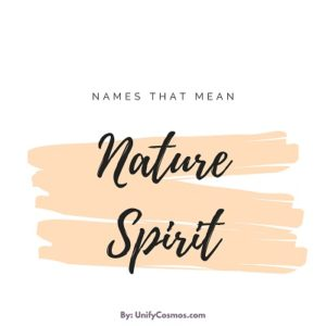 Names That Mean Nature Sprit featured