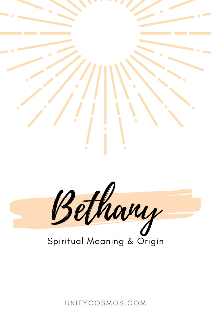 Spiritual Meaning of the Name Bethany by Unify Cosmos